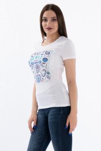 KVL - Tricou maneca scurta cu imprimeu colorat