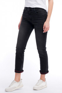 Lee Cooper - Blugi mom fit cu aspect decolorat