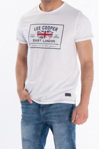 Lee Cooper - Tricou cu maneca scurta si imprimeu pe piept