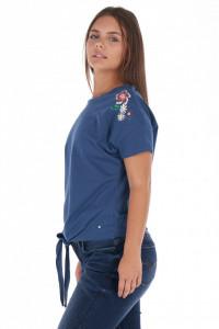 Lee Cooper - Tricou dama cu model floral si detaliu de prindere