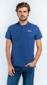 TRICOU MANECA SCURTA TIP POLO BARBAT DEEP BLUE LEE COOPER
