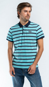 TRICOU MANECA SCURTA TIP POLO POOL BLUE LEE COOPER