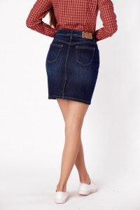 FUSTA DENIM SCURTA DAMA DARK BLUE KVL