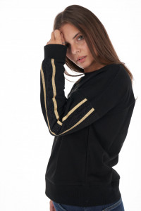 KVL - Bluza dama cu umeri cazuti si detalii din dantela pe maneci