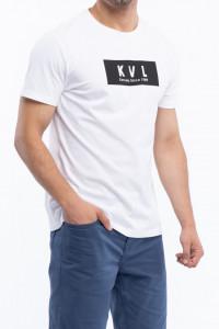 KVL - Tricou barbat cu maneca scurta si logo