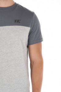 KVL - Tricou barbat din bumbac in doua culori cu logo imprimat