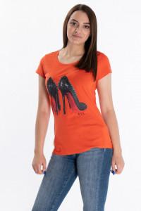 KVL - Tricou dama cu imprimeu si logo