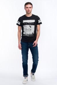 KVL - Tricou din bumbac cu imprimeu artistic