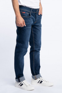Lee Cooper - Blugi lungi slim fit cu aspect usor decolorat