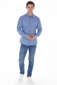Lee Cooper - Camasa barbat slim fit cu imprimeu in carouri mici