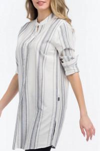 Lee Cooper - Camasa lunga tip tunica cu imprimeu in dungi