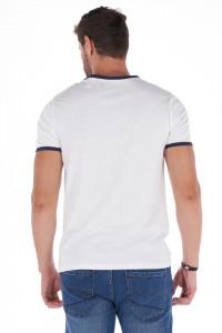 Lee Cooper - Tricou barbat cu logo si margini contrastante