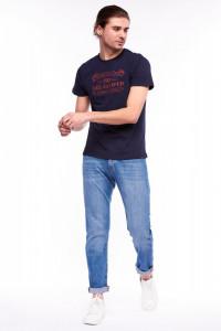 Lee Cooper - Tricou maneca scurta cu decolteu la baza gatului si mesaj