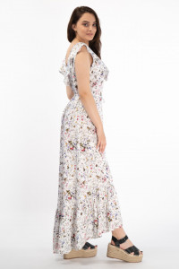 Martinez by Timeout - Rochie cu imprimeu floral si decolteu in V