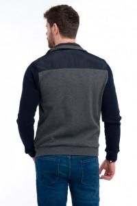 Timeout - Jacheta subtire din tricot cu detalii aplicate la buzunare si guler