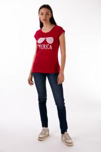 Timeout - Tricou dama din bumbac cu imprimeu
