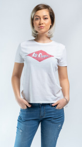 TRICOU MANECA SCURTA DAMA WHITE LEE COOPER