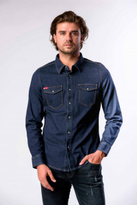 CAMASA DENIM MANECA LUNGA BARBAT DARK BLUE LEE COOPER