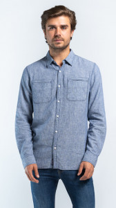 CAMASA MANECA LUNGA BARBAT SMOKE BLUE LEE COOPER
