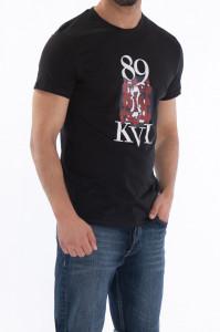 KVL - Tricou cu maneca scurta si logo imprimat