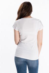 KVL - Tricou dama cu maneca scurta si imprimeu lucios
