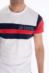 Lee Cooper - Tricou barbat cu maneca scurta si detalii in dungi