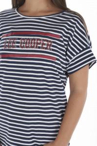 Lee Cooper - Tricou lejer dama cu model in dungi si logo