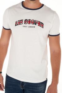 Lee Cooper - Tricou maneca scurta cu logo si margini contrastante