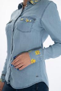 Timeout - Camasa dama cu maneca lunga si detalii florale