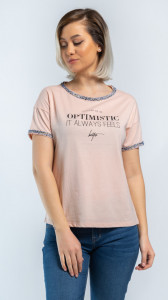 TRICOU MANECA SCURTA DAMA PEACH BLUSH KVL