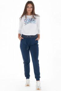 KVL - Pantaloni de trening dama cu detaliu contrastant in lateral