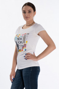 KVL - Tricou dama cu maneca scurta din bumbac