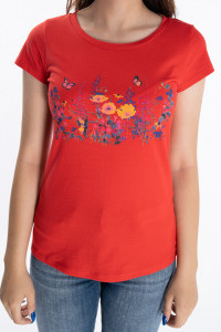 KVL - Tricou dama cu maneca scurta si imprimeu floral