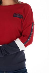Lee Cooper - Bluza dama din bumbac cu dungi contrastante si logo