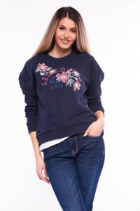 Lee Cooper - Bluza maneca lunga cu umeri cazuti si motiv floral