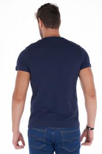 Lee Cooper - Tricou barbat din bumbac cu imprimeu si logo texturat