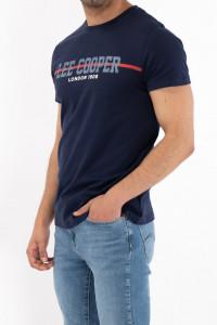 Lee Cooper - Tricou maneca scurta din bumbac cu logo pe piept