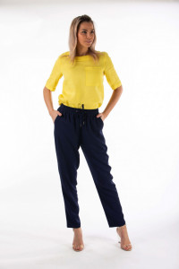 Montecristo - Pantaloni subtiri din vascoza cu banda elastica in talie