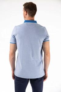 Montecristo - Tricou barbat tip polo cu detalii contrastante