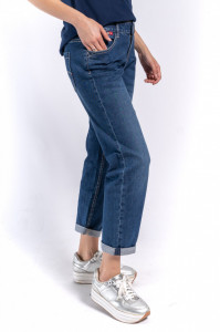 PANTALONI DENIM LUNGI DAMA MID BLUE LEE COOPER