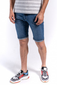 PANTALONI DENIM SORT BARBAT MID BLUE KVL