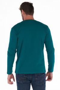 Timeout - Bluza barbat din bumbac cu nasturi la baza gatului