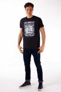 Timeout - Tricou barbat din bumbac cu maneca scurta si imprimeu