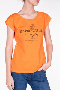 TRICOU MANECA SCURTA DAMA APRICOT ORANGE KVL