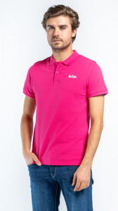 TRICOU MANECA SCURTA TIP POLO BARBAT FUCHSIA PURPLE LEE COOPER