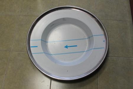 Tanjir za kotlovinu 50 cm Rostfraj