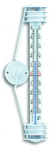Termometar prozorski crni/beli