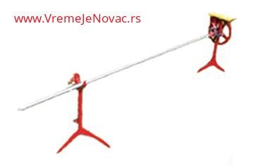 Slika Ražanj komplet na stuju od inoxa, cev 2m