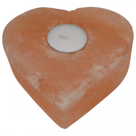 Svećnjak od himalajske soli u obliku srca