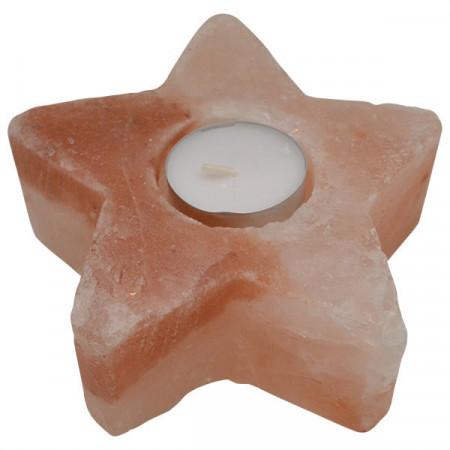 Svećnjak od himalajske soli u obliku zvezde